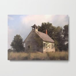 State Rd. Schoolhouse Metal Print