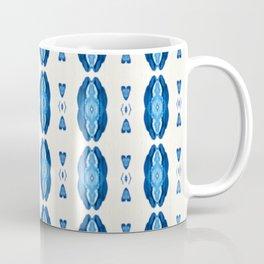 Acrylic Blue Stripes Coffee Mug