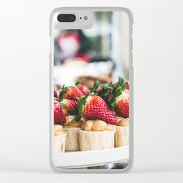 Strawberry Tartes Clear iPhone Case