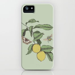 Lemons in Spring iPhone Case