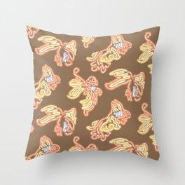 Fish Biz Throw Pillow