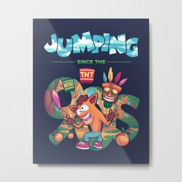 Jumping Since The 90s Metal Print