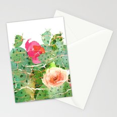 scratched cactus Stationery Cards