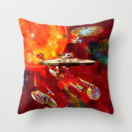 StarShips of the Federation Throw Pillow