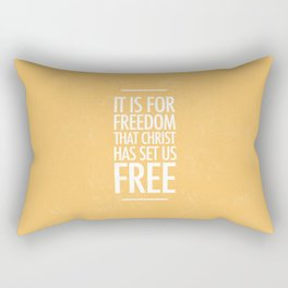 It is For Freedom - Galatians 5:1 Rectangular Pillow