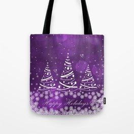 Happy Holidays Purple Magic Tote Bag