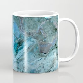 Oceania Teal & Blue Marble Coffee Mug