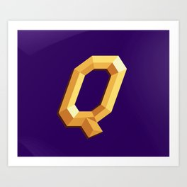 The Queen Logo Art Print