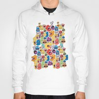 monster Hoodies featuring Monster Faces Pattern by Chris Piascik