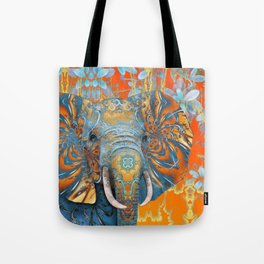The Happy Blue Elephant Tote Bag