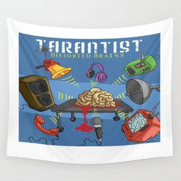 Distorted Brains Cover Wall Tapestry