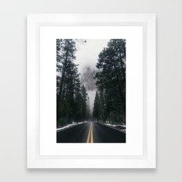 Forest Way Framed Art Print
