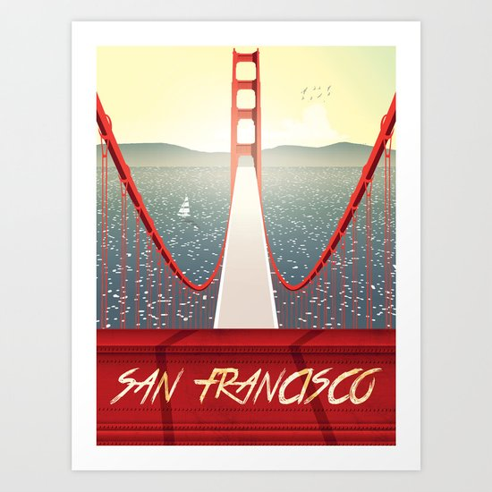 Golden gate San francisco bridge poster Art Print