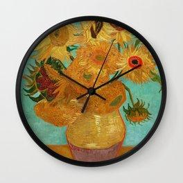 Vincent Van Gogh Twelve Sunflowers In A Vase Wall Clock