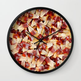 Gummy Cola Bottles Candy Photo Pattern Wall Clock