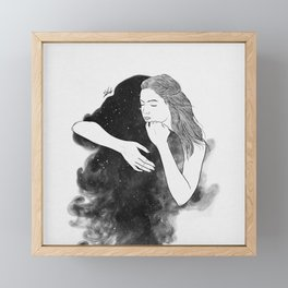 Ordinary hug. Framed Mini Art Print