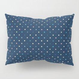 Colorful Polka Dots / Midnight Blue Pillow Sham