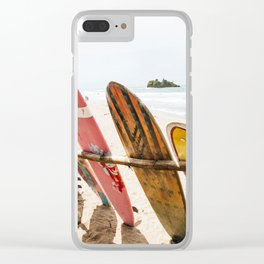 Surfing Day 2 Clear iPhone Case