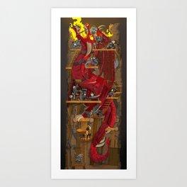 Dragon Inside Art Print