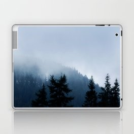 The Grouse Mountain in Fog Laptop & iPad Skin