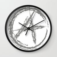 sons of anarchy Wall Clocks featuring Anarchy by Collectivo 2
