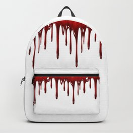 Blood Dripping White Backpack