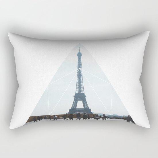Eiffel Tower Art - Geometric Photography Rectangular Pillow