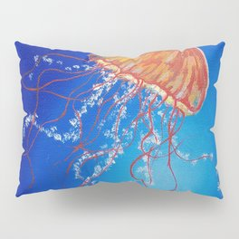 Jellyfish, Oil painting by Faye Pillow Sham