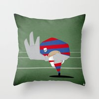 rugby Throw Pillows featuring Rugby by Osvaldo Casanova