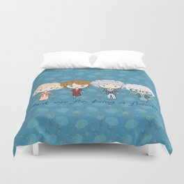 thank you for being a friend Duvet Cover