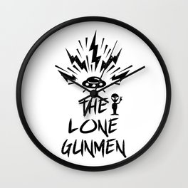 The lone gunmen punk Wall Clock