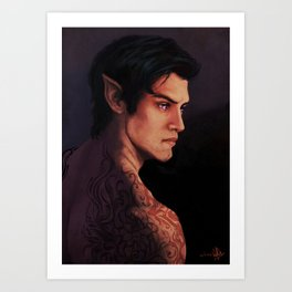 Rhysand Rhys Court of Thorns and Roses portrait Art Print