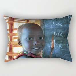 Happy Young Maasai Child 4269 Rectangular Pillow