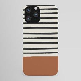 Burnt Orange x Stripes iPhone Case