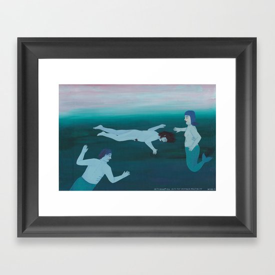 Introduction into the deep blue Posterity Framed Art Print