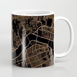 Black and gold Seoul map Coffee Mug