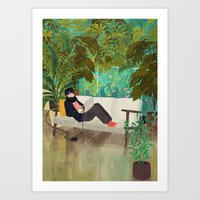 jungle Art Prints featuring jungle by Lara Paulussen