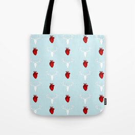 Hannibal Stag & Hearts Tote Bag