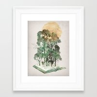 david Framed Art Prints featuring Jungle Book by David Fleck