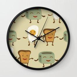 Breakfast friends Wall Clock
