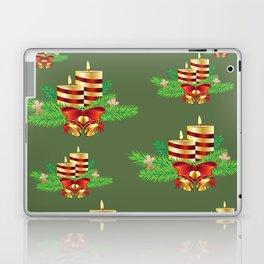 Decorative Christmas Candle Laptop & iPad Skin