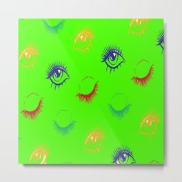 Girly Eye Leash Pattern Women Gift Metal Print