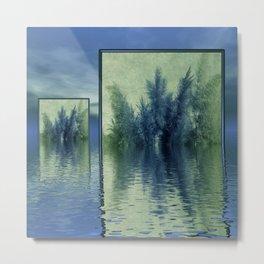 pampasgrass blue and green Metal Print