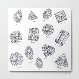 Diamonds pattern Metal Print