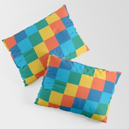Color me happy - Pixelated Pattern in bright colors Pillow Sham