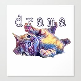 Kitten drama Canvas Print