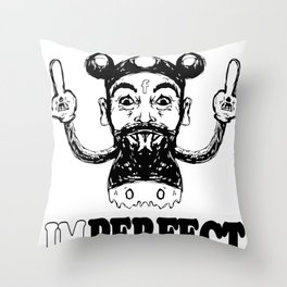Imperfect Charlie Mouse Throw Pillow