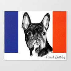 French Bulldog. The Totally French Version... Canvas Print
