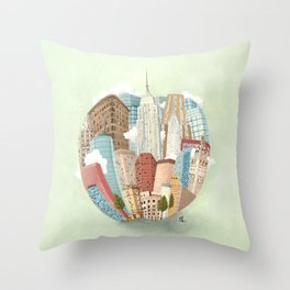 The Big Apple and I Throw Pillow