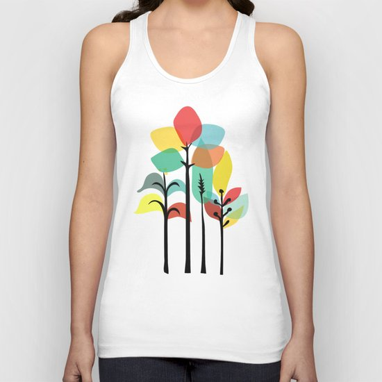 Tropical Groove (gray) Unisex Tank Top